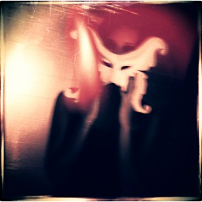 ghost behind a face